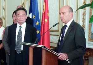 photo rencontre Wu Bangguo - Alain Juppé